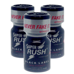 3x Super Rush Black Label (10ml) Pack