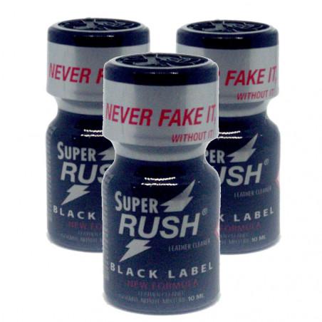 3x Super Rush Black Label (10ml) Pack